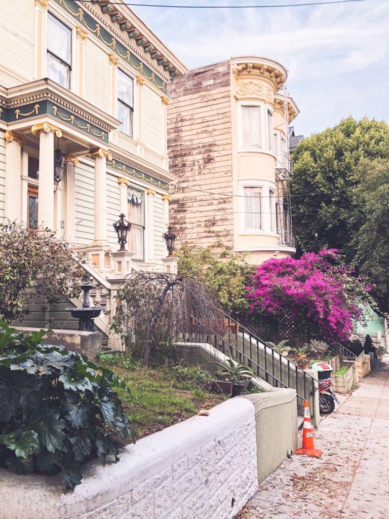 разноцветные дома Сан Франциско