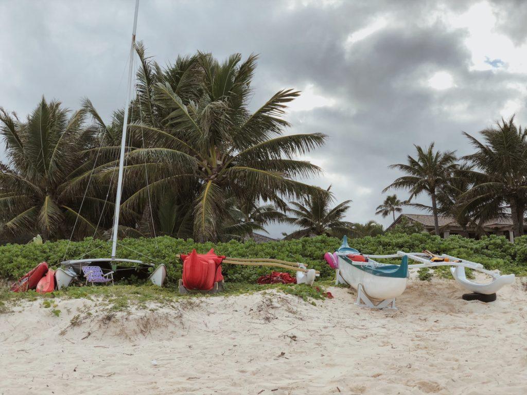 гавайское ганоэ. пляжи гавайев