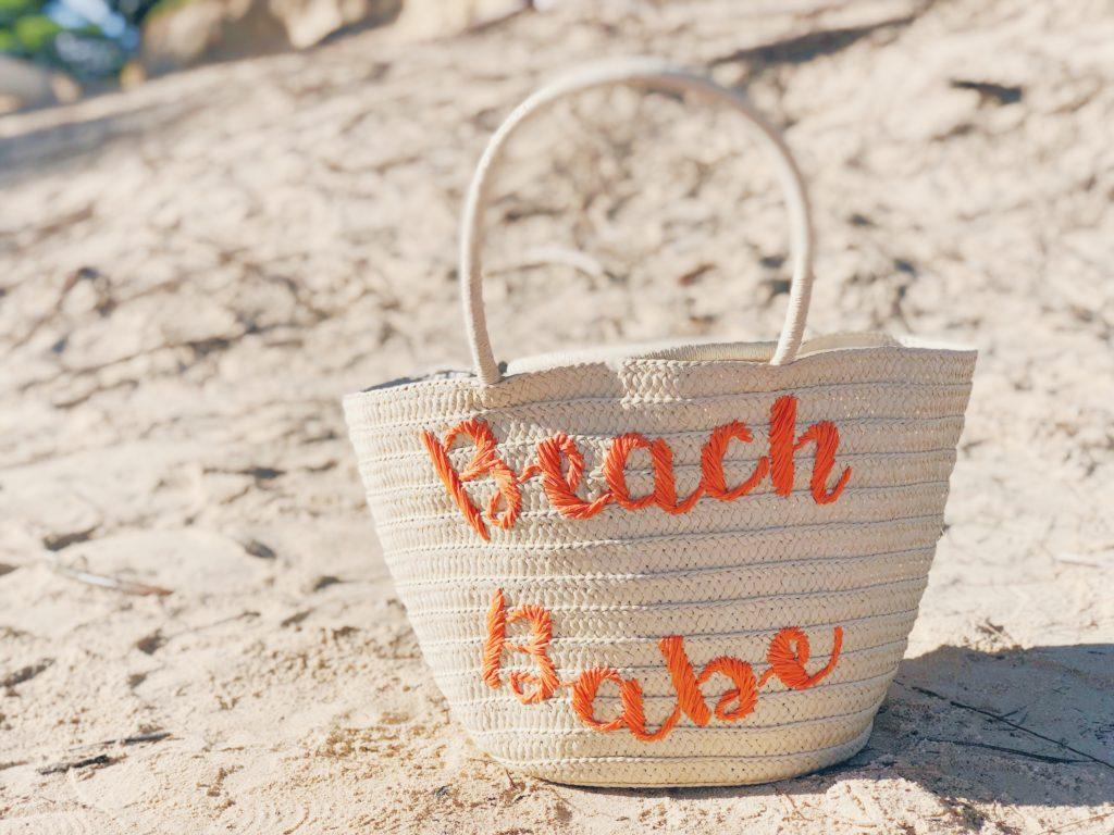 пляжная соломенная сумка