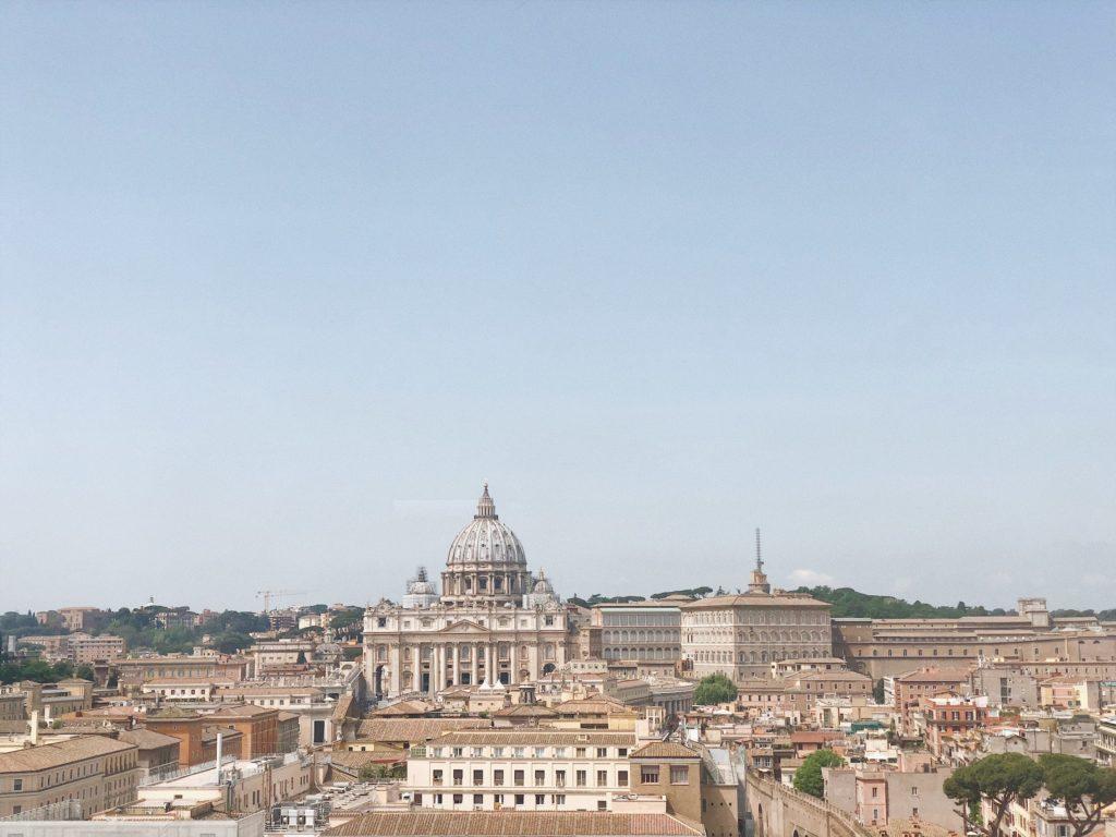 Вид на Собор Святого Петра в Ватикане, Рим