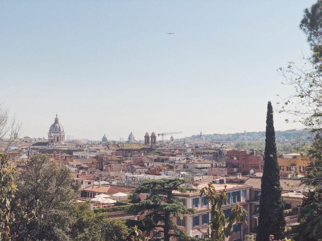 Пьяцца Дель Пополо. Вид на Рим с холма Пончо