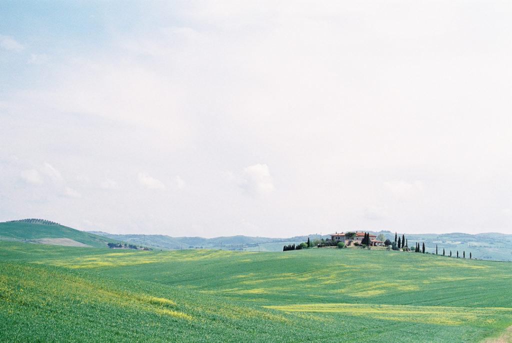 Тосканские поля весной. Тоскана весной.
