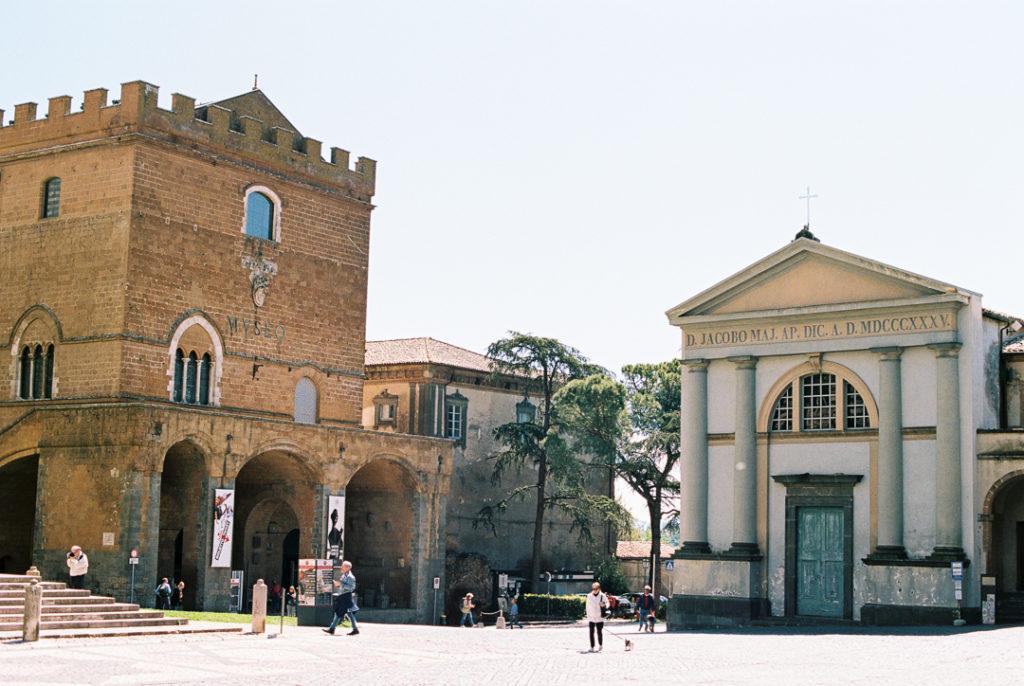 Орвието Италия главная площадь