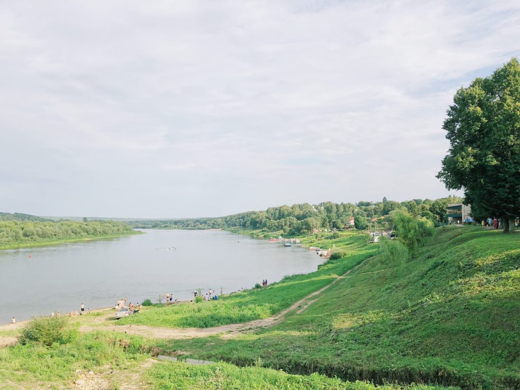 Город Таруса вид на реку Оку