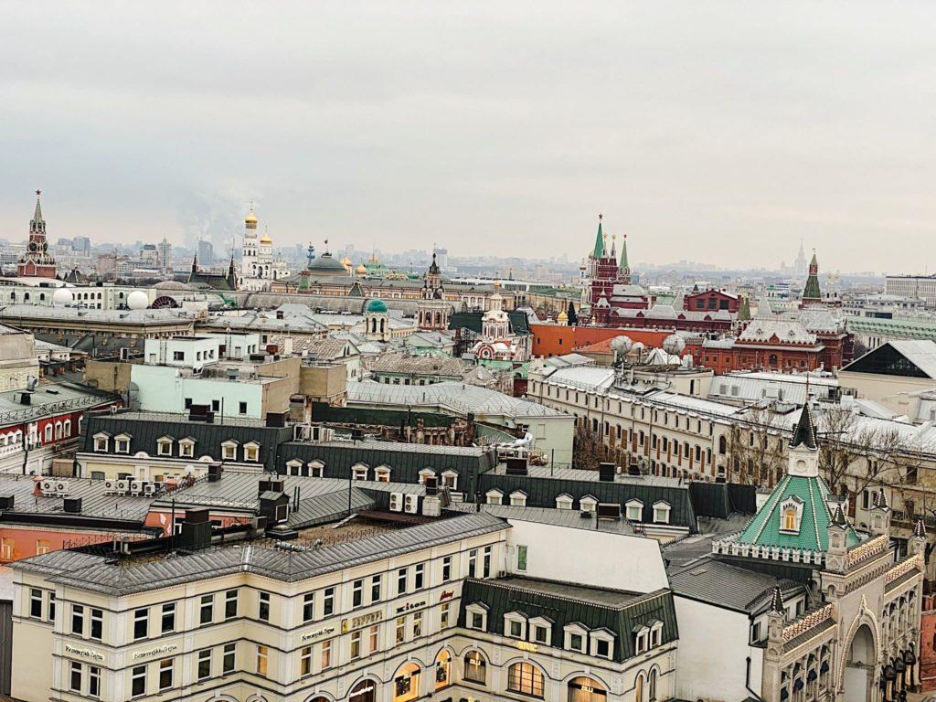 вид на Москву со смотровой площадки Детского мира