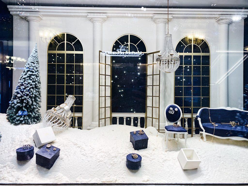 Новогодние витрины ГУМа Москва