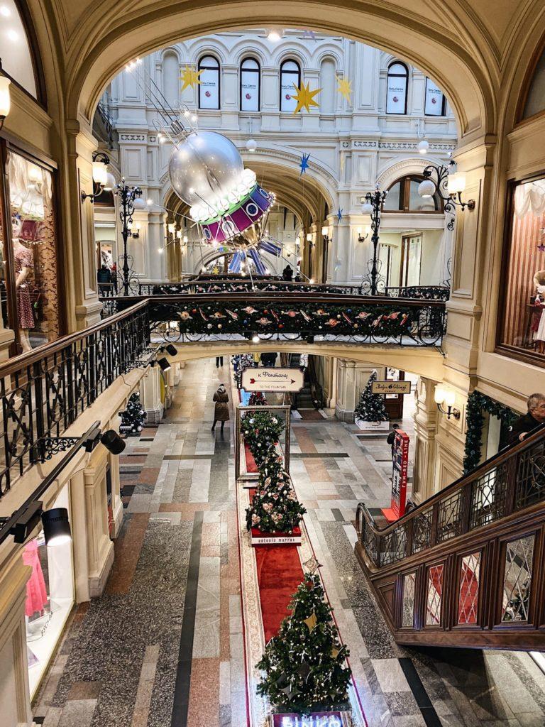 новогоднее оформление ГУМа Москва