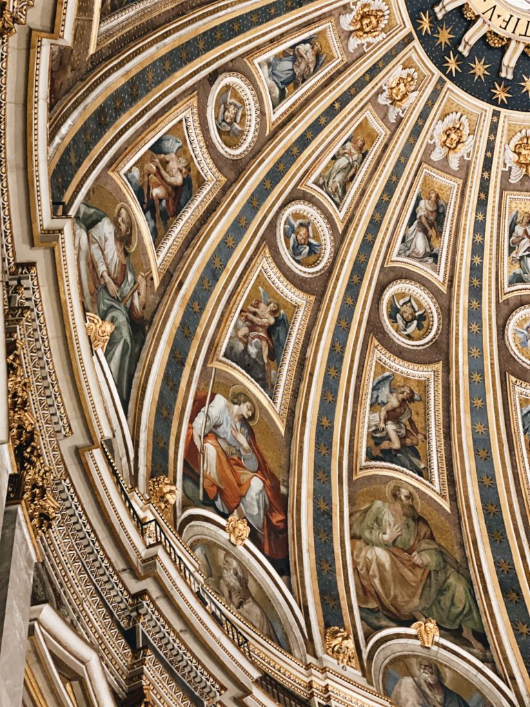мозаики на куполе собора святого петра в риме