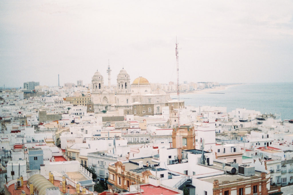 Кадис вид на город. Башня Тавира. Кадис камера обскура.