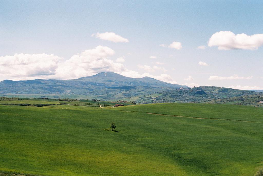 Тосканские холмы. Кипарисы в Тоскане. Валь д'Орча