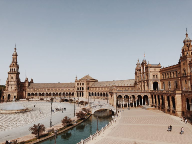 Севилья Испания город Площадь Испании фото