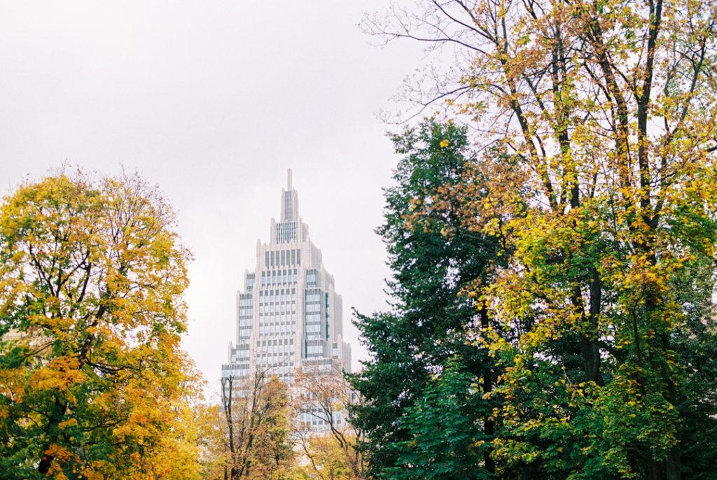 Сад Эрмитаж осенью фото