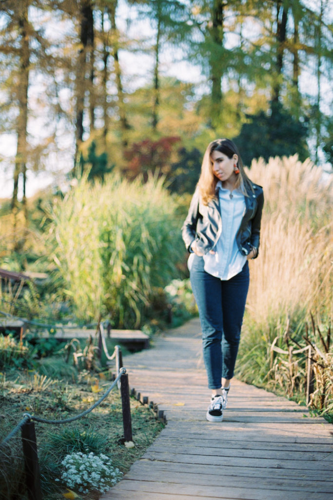 парк Сокольники осенью розарий